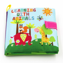 2017 Baby Toys Soft Cloth Books Rustle Sound Infant Educational Stroller Rattle Toy Newborn Crib Bed Baby Toys 0 36 Months