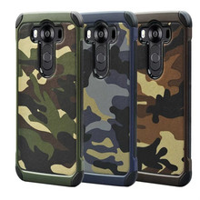 Military Camouflage Coque fundas Cover For LG V10 F600 H968 Case TPU+PC two in one shockproof protective Phone cases