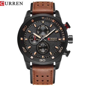 CURREN top marka projekt nowy mody dorywczo chłodny sportowy człowiek zegar wojskowy armia biznes kwarcowy zegarek na rękę mężczyzna luksusowy prezent tanie i dobre opinie Kwarcowe Zegarki Na Rękę Moda casual QUARTZ STAINLESS STEEL 23cm Klamra 3Bar Odporne na wodę 45mm CR-8250 Hardlex ROUND
