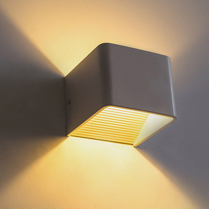 Jiawen 5W LED Wall Lights Aluminum Up and Down Sconce Lighting LED Cube Lamp for Bathroom Vanity Lighting