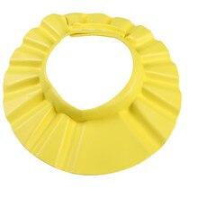 Популярное детское мягкие регулируемые розовый желтый синий душ Кепки детский шампунь Для ванной мыть волосы Щит Hat