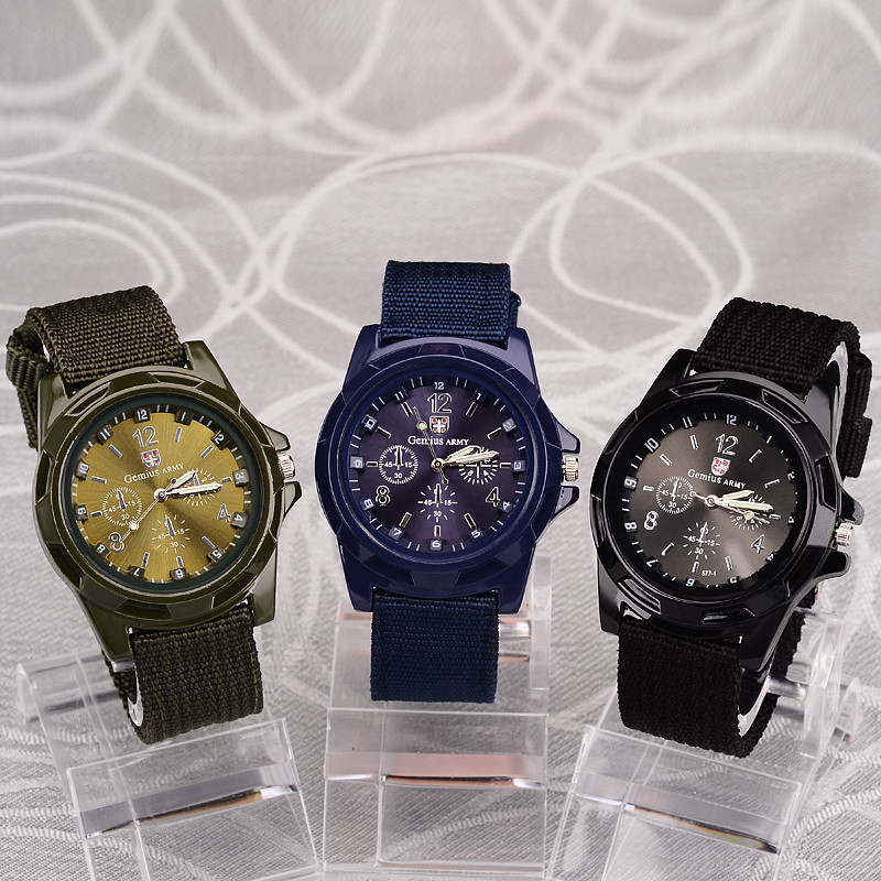 2019 Men Nylon band Military watch Gemius Army watch High Quality Quartz Movement Men sports watch Casual wristwatches