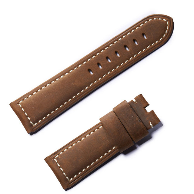 Reef Tiger/RT Mens Black Brown Leather Watch Strap with Buckle for Sport Watches Watch Band for Men RGA3503 RGA3532 | Watchbands