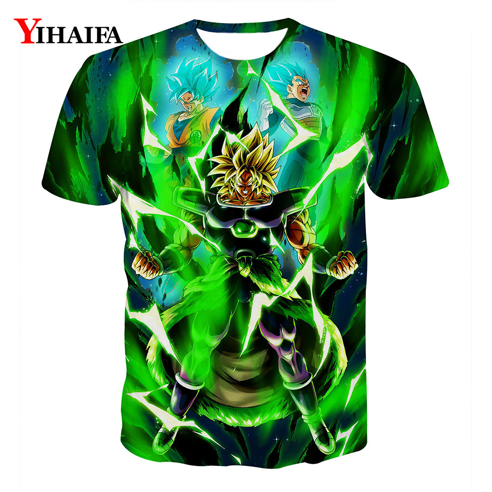3D T shirt Dragon Ball Z Print Anime Fighting Vegeta Goku Casual Tee Shirts Summer Men Hip Hop Cartoon Graphic Tees Tops(China)