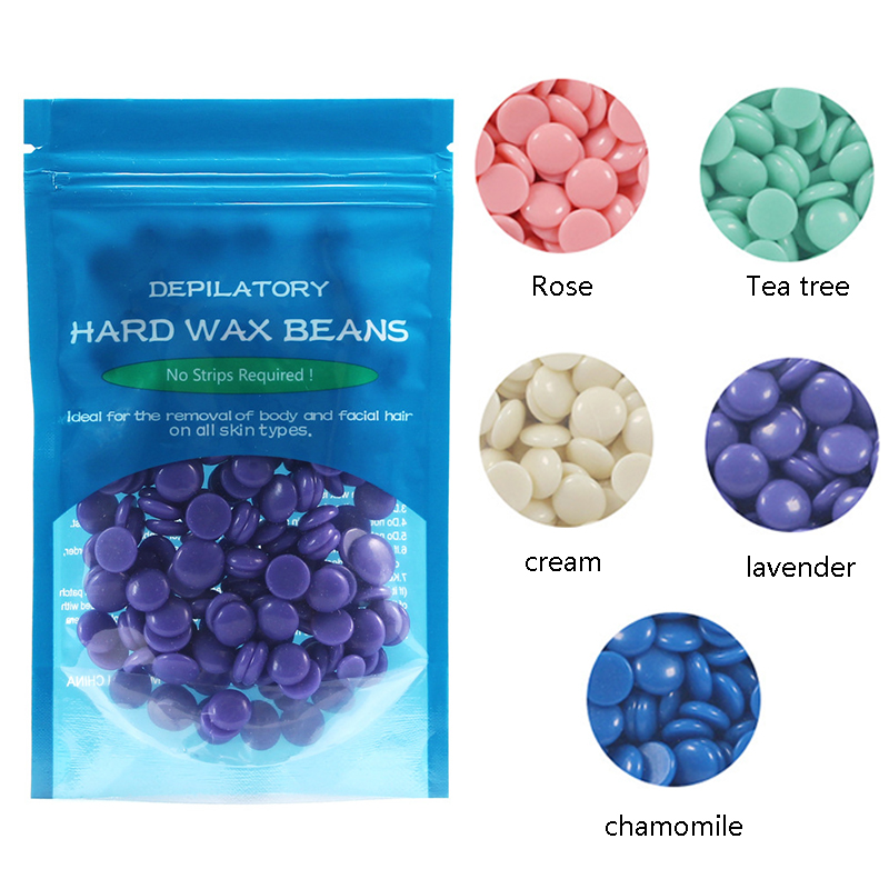 50g Female Hair Removal Bean No Strip Depilatory Hot Film Hard Wax Pellet Waxing Hair Removal Bean Dropship
