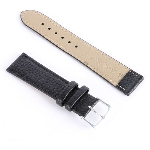 Newest Fashion Black Brown High Quality Watchband Soft Litchi Stripe PU Leather Watches Strap Pin Buckle 12-22mm Islamabad