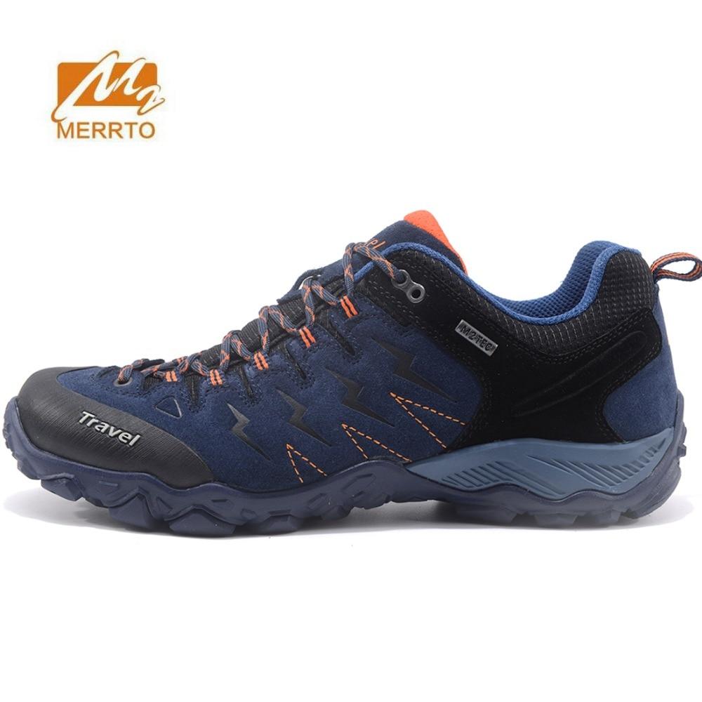 MERRTO Men's Sports Outdoor Footwear Trekking Hiking Sneakers Shoes For Men Leather Climbing Mountain Trail Shoes Sneakers Man merrto men s sports leather outdoor hiking trekking shoes sneakers for men wearable climbing mountain shoes man senderismo