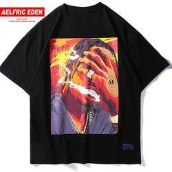Aelfric Eden хип хоп курение печатных футболки 2018 повседневное хлопковые для мужчин Лето Уличная скейтборды футболка RN02