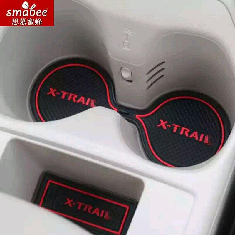 15 pcs/ensemble Pour Nissan X-trail X Trail Xtrail T31 T32 2008-2015 Accessoires De Voiture 3D En Caoutchouc Non-Slip Mat Porte Intérieure Mat Smabee
