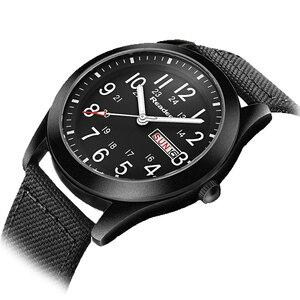 Image 2 - Readeel Relojes de pulsera de cuarzo para hombre, reloj informal militar deportivo con fecha y semana, de lona, gran oferta