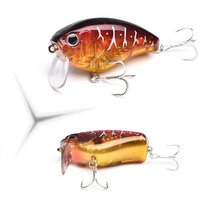 1 PCS 6cm 17g Diving Crankbait Fishing Lures Baits Lifelike Bass wobblerTackle #6 Hook for perch striped Catfish