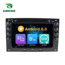 Octa Core 4 GB di RAM Android 8.0 Auto Lettore DVD GPS di Navigazione Multimediale Stereo da Auto per Renault Megane 2003- 2010 Radio Headunit