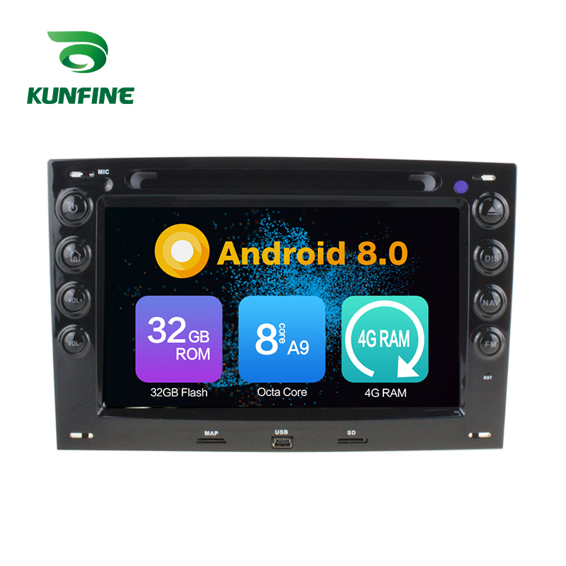 Octa Núcleo 4 GB de RAM Android 8.0 Car DVD GPS Navigation Multimedia Player Som Do Carro para Renault Megane 2003- 2010 Unidade Central de Rádio
