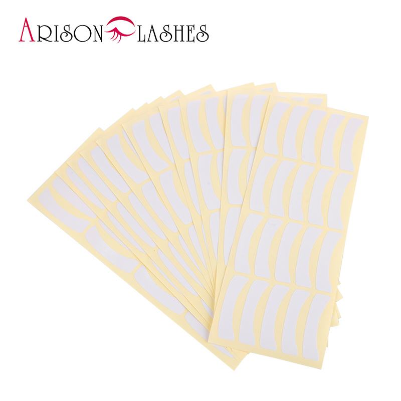 Arison 100pairs Wholesale Paper Patches Eyelash Under Eye Pads Lash Eyelash Extension Paper Patches Eye Tips Sticker Wraps