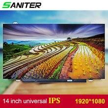 SANITER להחיל כדי Lenovo T420 T430 מסך ניקוד גבוה B140HAN01.1 B140HAN01.2 B140HAN01.3 IPS 1920*1080 HD מחשב נייד מסך LCD