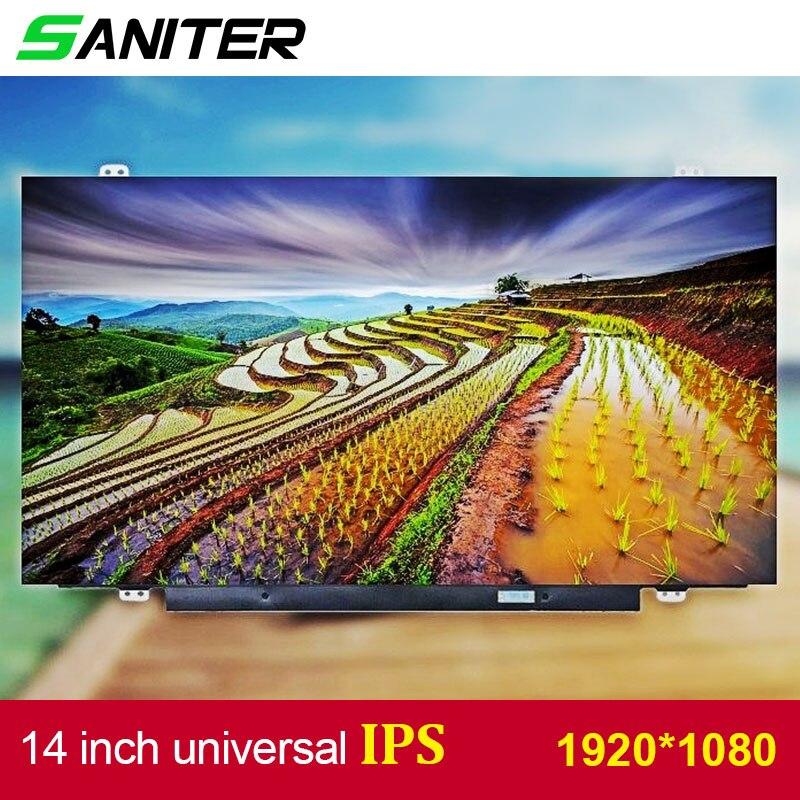 SANITER a Lenovo T420 T430 pantalla alta puntuación B140HAN01.1 B140HAN01.2 B140HAN01.3 IPS 1920*1080 HD pantalla LCD de ordenador portátil