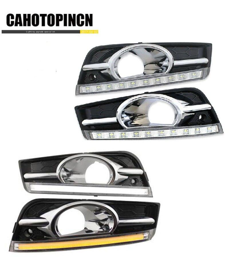 Prix pour Clignotants et gradation style Relais 12 V de voiture LED DRL Feux de jour Feux pour chevrolet cruze 2009-2012 avec feu de brouillard trou