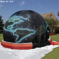 Customized printing education dome inflatable planetarium dome screen display, inflatable dome tent for educational institutes