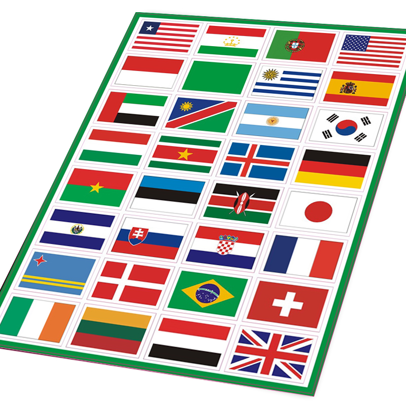 Brazil Country Flag National Pride for Laptop Car Bumper Full Color Sticker