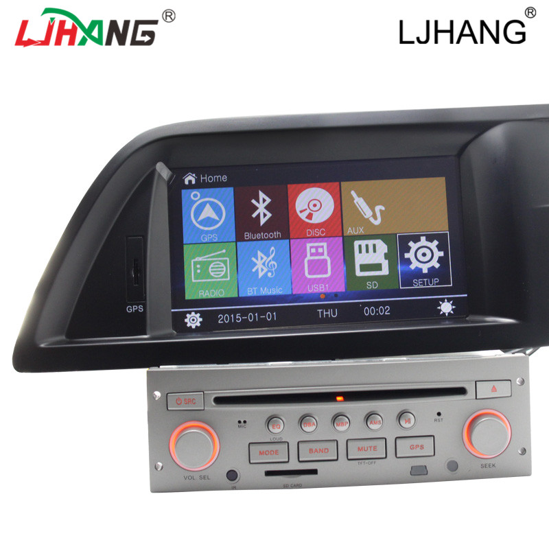 wince6 0 car radio dvd player gps navigation for citroen c5 before 2012 with bluetooth rds. Black Bedroom Furniture Sets. Home Design Ideas