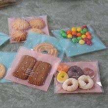 Skyblue saco de embalagem auto-adesivo, saco auto-adesivo de plástico para doces e casamentos, decoração de presente, 100 pçs/lote * 10cm