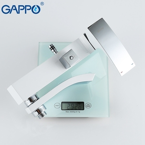 Image 5 - GAPPO Beyaz Lake duş Musluk küvet musluk banyo duş banyo bataryası duvara monte yağış duş seti musluk bataryası Kiti