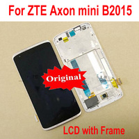 Original Best NEW AMOLED LCD Display Touch Panel Screen Digitizer Assembly + Frame For ZTE Axon Mini B2015 Phone Sensor Parts