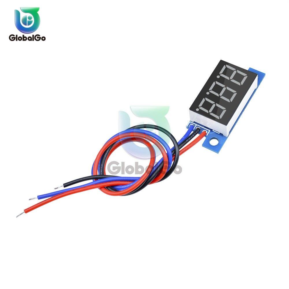 0 36 inch 3 Wire LED Digital Voltmeter Car Motocycle Voltage Meter Gauge Volt Detector Tester Monitor Panel DC 0 99 9V Outdoor in Voltage Meters from Tools
