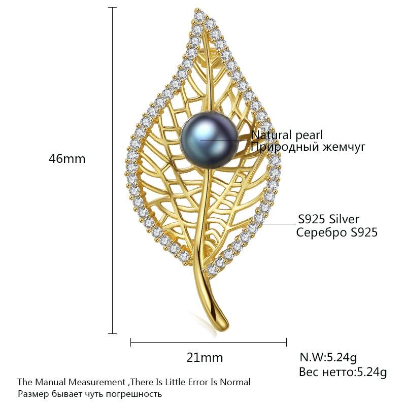 PAG & MAG Marka Kształt Liścia Słodkowodne Pearl 8-8.5mm Naturalny - Wykwintna biżuteria - Zdjęcie 6