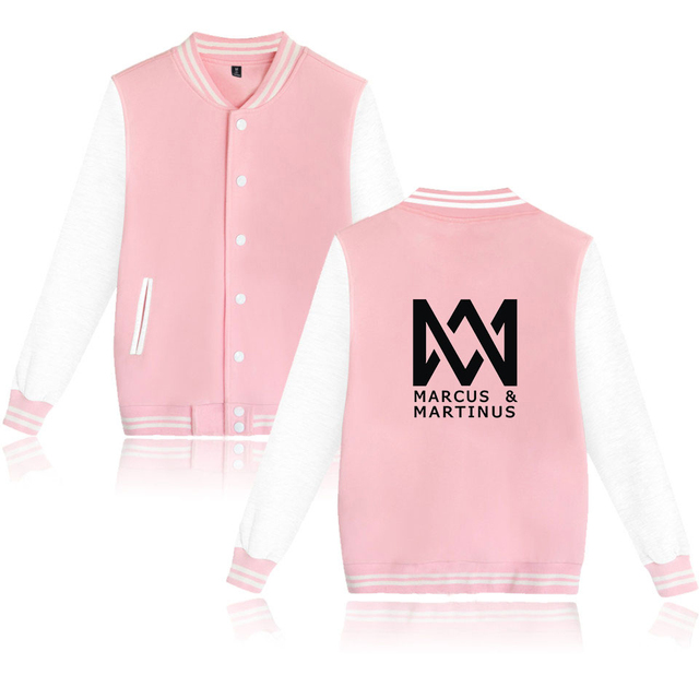 Harajuku Baseball Jacket  Marcus and Martinus Hoodies Men Women Pullover Sweatshirt Street Style KPop Hoody Unisex Brand Clothes
