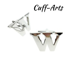 Cuffarts 26 Letters DIY Cufflinks A-Z Alphabet Cuff links Personality  Mix&Match Choose 2 Different For Initials C10093