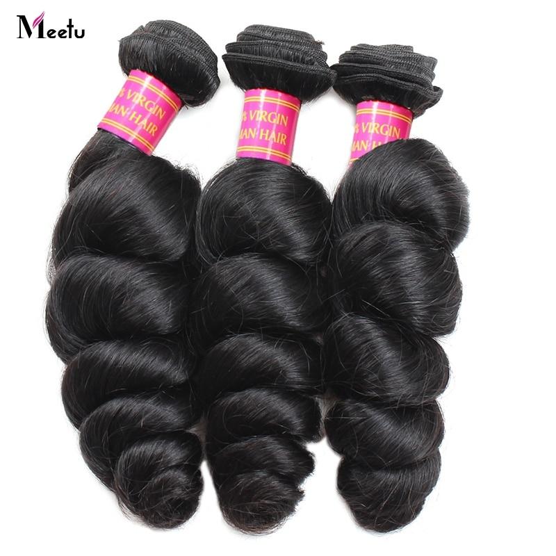 Pañuelos de pelo con onda suelta de Meetu Brazilian 100% cabello - Productos de belleza