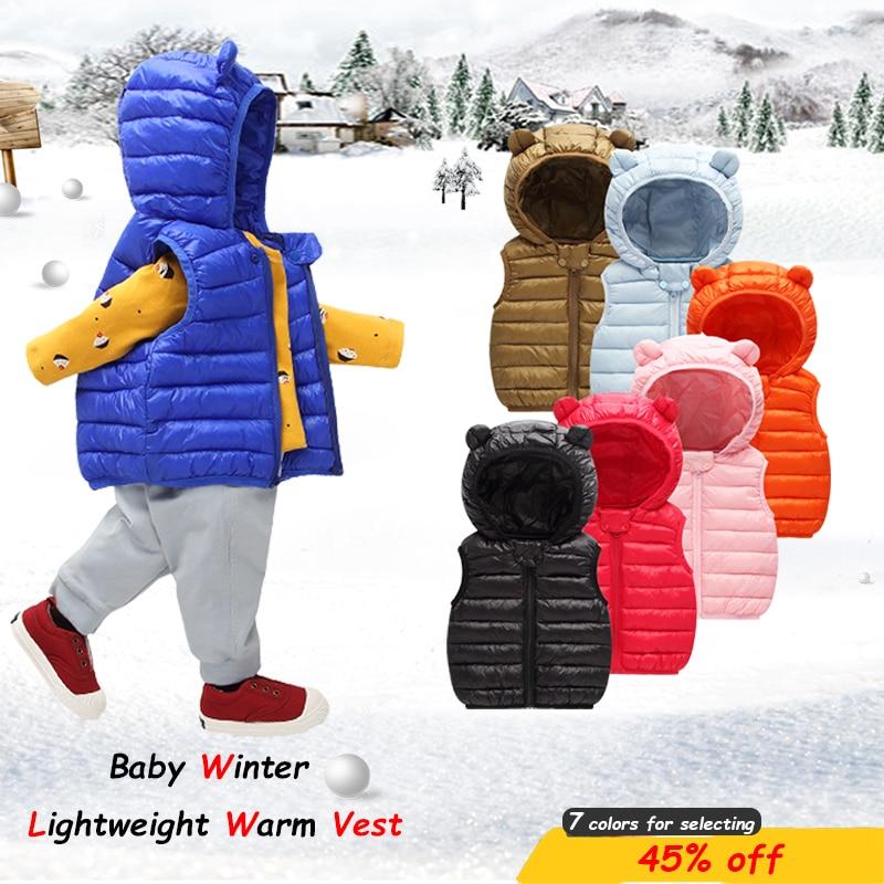 Agressief Baby Vest Baby Meisje Winter Kleding Jongen Bovenkleding Jas Katoen Puffer Kids Vest Warme Winter Babykleertjes Kinderen Snowsuit