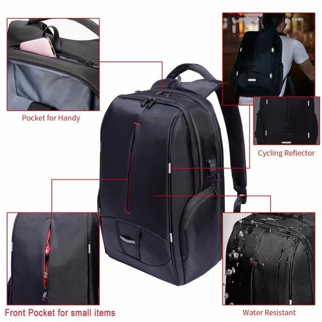 Waterproof Laptop Travel USB Backpack