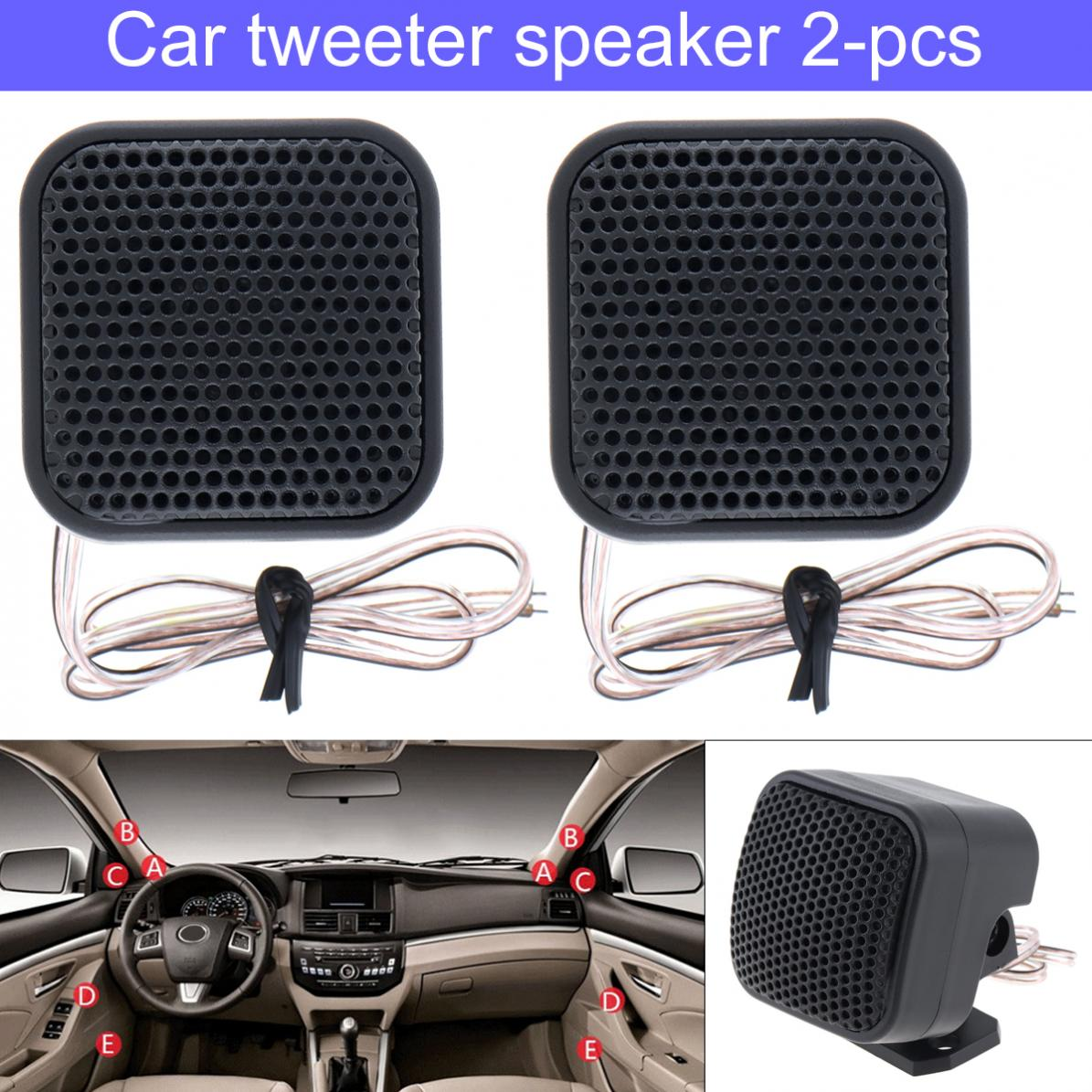 2pcs 500W TP-004A  High Efficiency Mini Tweeter Speakers For Car Audio Systems