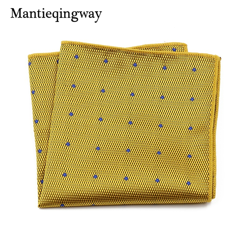 Men's Suits Polyester Handkerchiefs Woven Floral Pocket Square Hankies Chest Towel Striped Wedding Pockets Towel