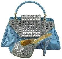 Neueste Italienische Schuhe Mit Passenden Taschen Hochwertigen Frauen Schuhe und Taschen Mit Steinen Sandalen Schuhe Und Tasche Set 1308-36