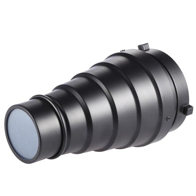 Metalu stożkowe osłona reflektora z siatką w plaster miodu 5 sztuk filtr kolorów zestaw do Bowens Mount Studio Strobe Monolight fotografii Flash