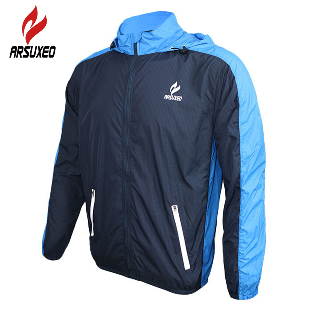 ARSUXEO Outdoor Sports Cycling Jerseys MTB Bike Bicycle Running Jacket Men Waterproof Windproof Long Sleeve Wind Coat Clothing arsuxeo outdoor sports cycling jerseys mtb bike bicycle running jacket men waterproof windproof long sleeve wind coat clothing
