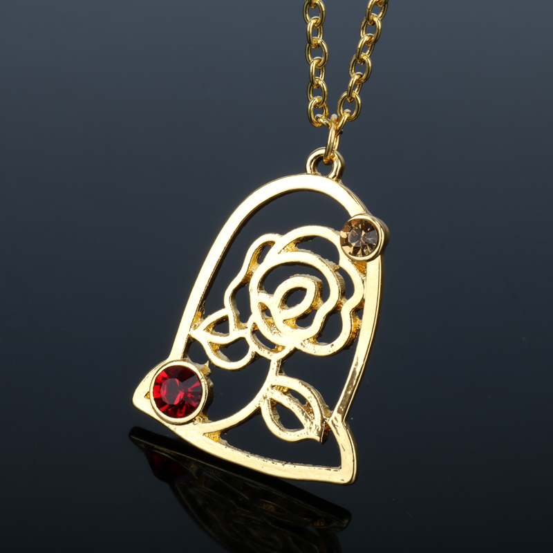 Movie Beauty and The Beast Rose Charms Choker Bella ...