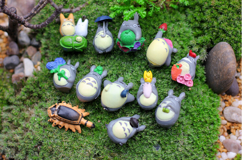 12pcs/lot Mini Cartoon Japan Animals TOTORO Fairy Garden Miniature Craft  Micro Landscape Ornament Resin Home Decor DIY Toys On Aliexpress.com |  Alibaba ...