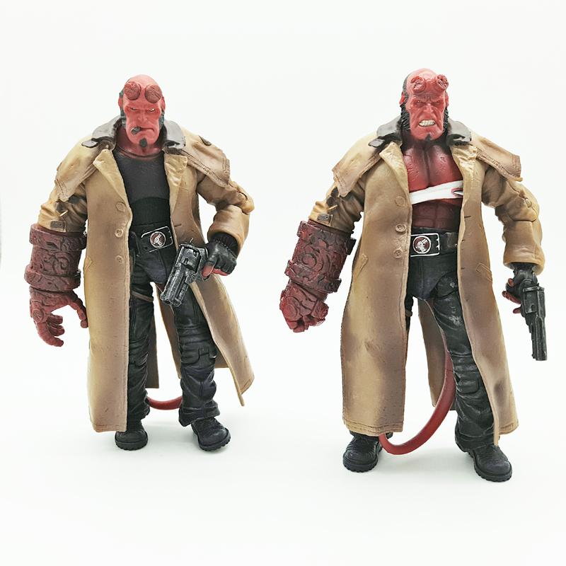 2Styles MEZCO Hellboy with Cigar Variant Samaritan PVC Action Figure Collectible Model Toy 7 18cm neca planet of the apes gorilla soldier pvc action figure collectible toy 8 20cm