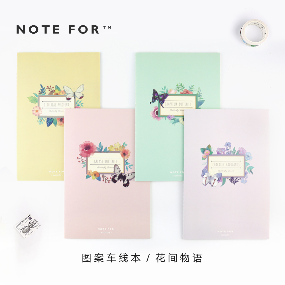 3138955c0 Japanese Kawaii Floral Flower Cute Soft Cover Notepad A5 Notebook Stiching  Binding Student School Notebook School Stationery