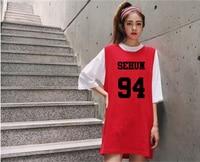 2016 החדש kpop exo אדום קולקטיבי exo סוודרי שמלות נשים k-pop אותו אלבומים אוהדי שמלת סתיו שרוולים ארוכים בגדים נשיים