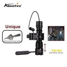Alonefire TK104 CREE XM-L2 U3 светодиодный тактический светильник фонарь 20 мм крепление для страйкбола прицел ружья светильник 18650 батарея