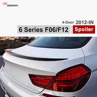 M6 style F06 carbon fiber trunk spoiler rear wing for BMW 6 Series 2012 + 4-door gran coupe sedan 640i 650i 640d car styling