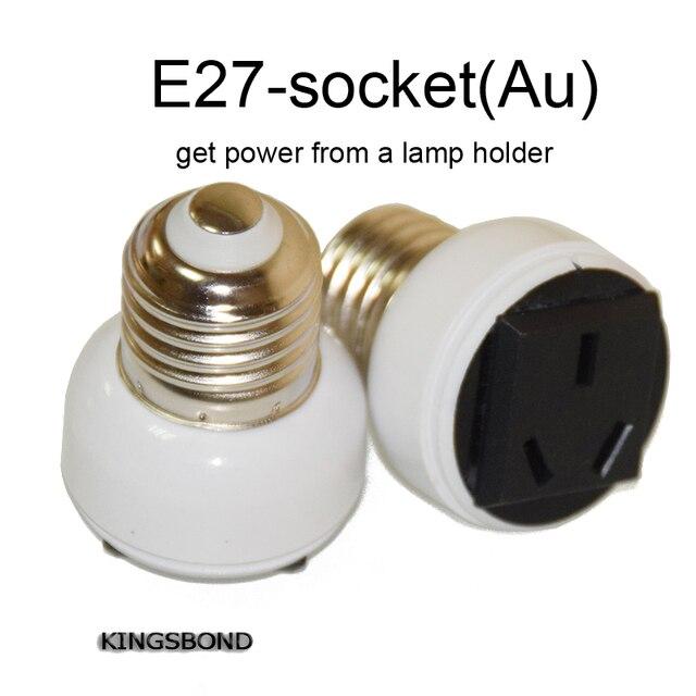 5 PCS E27 lampe de conversion De Base porte-Ampoules à L'UA prise obtenir puissance de titulaire de une lanterne ou suspension lampe plug UA