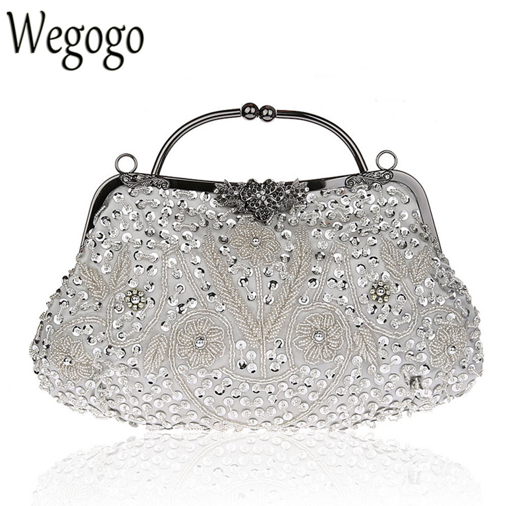 Vintage Women Bag Fashion Evening Bag Party Clutch Handbag Slap-up Shiny Bride Purse Wedding Woman Birthday Gift For Women fashion vintage elegant black banquet wallet hard hasp woman evening bag casual cute multicolor business clutch purse for women