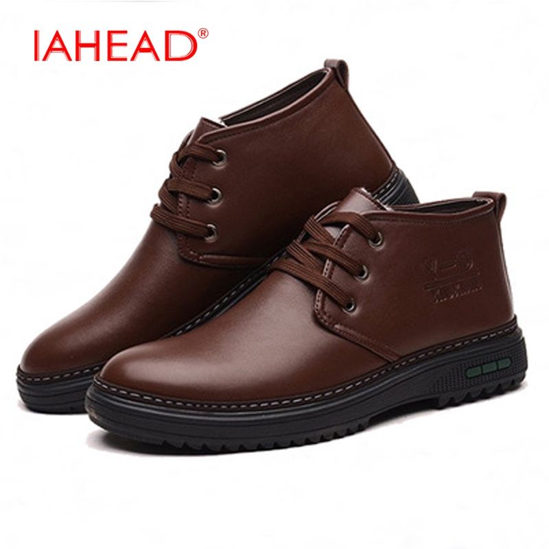2017 Men Casual Shoes Leather Shoes Fluff Warm Men Driving Shoes Soft Winter Boots Man Luxury Brand Footwear Shoes MH523 serene handmade winter warm socks boots fashion british style leather retro tooling ankle men shoes size38 44 snow male footwear