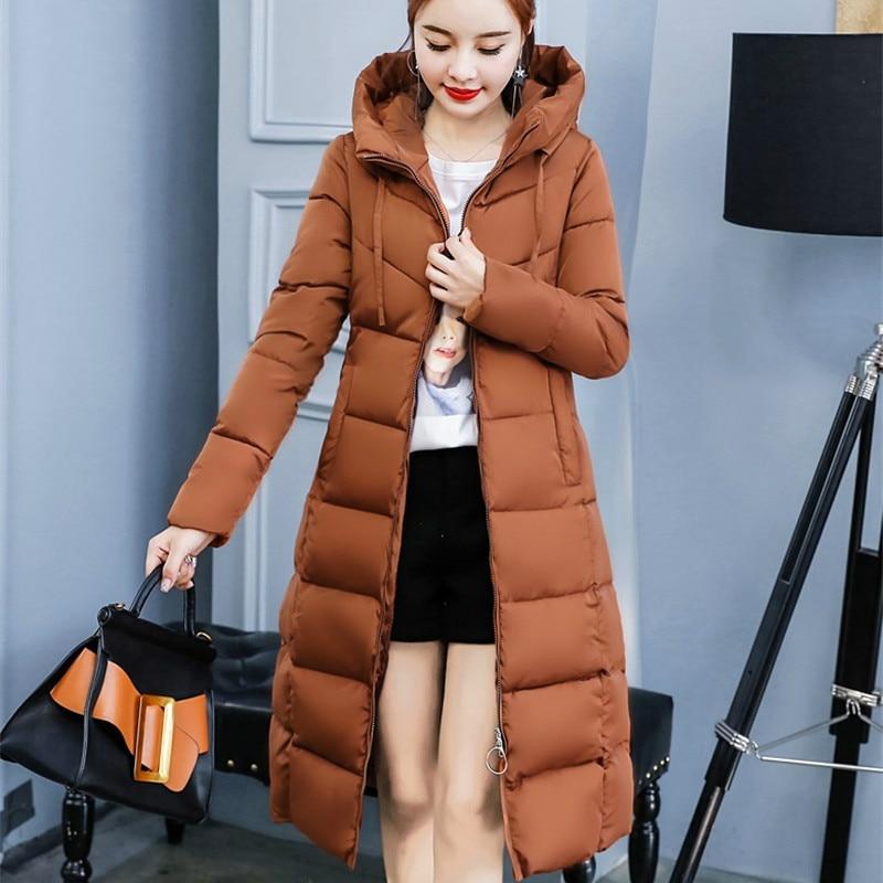2019 Plus Size 4XL Hooded Outwear   Parkas   Women Winter Coat Long Slim Thicken Warm Jacket Down Cotton Padded Jacket HK140